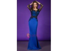 Rochie lunga eleganta albastra Mia