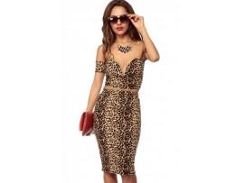 Rochie Wild Leopard print