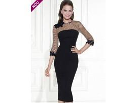 Rochie eleganta cu plasa neagra mulata GYa