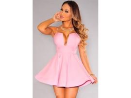 Rochie scurta roz trendy CLubSexy
