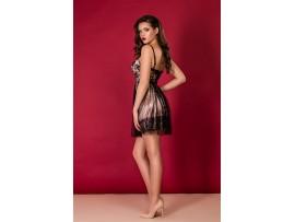 Rochie scurta roz-negru Erica