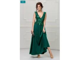 Rochie de seara lunga verde cu paiete Sidonia