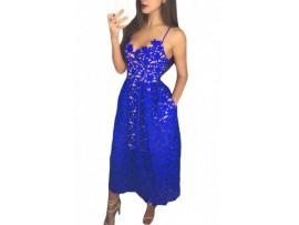 Rochie albastra cu spatele gol Heidi