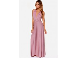 Rochie eleganta maxi roz Elena