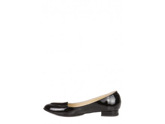 Pantof negri din piele naturala model 2355