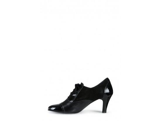 Pantof negru din piele naturala model PF38