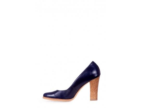Pantofi Clarette albastri din piele naturala model 278-AB
