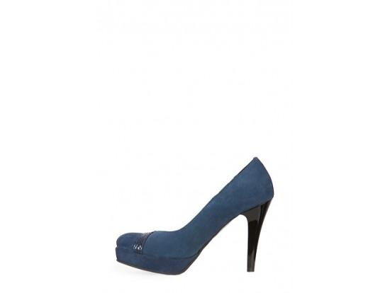 Pantofi albastrii din piele naturala model 212