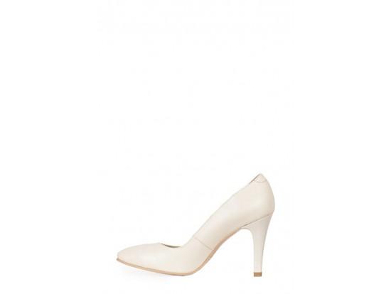 Pantofi Clarette bej din piele naturala model 01