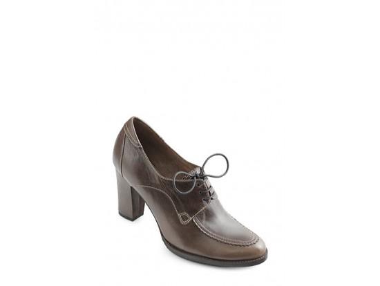 Pantofi Clarette kaki din piele naturala model 167