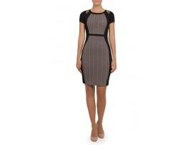 Rochie gri cu negru din jerse model ISSEY