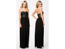 Rochie lunga Bustier